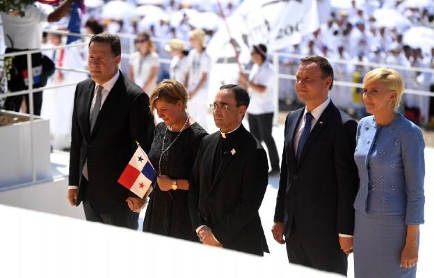 Prezydent Panamy wraz z małżonką