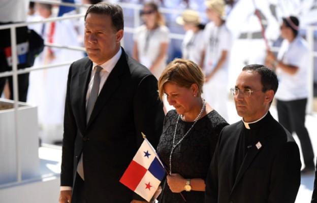 Para prezydencka i kard. Lacunza z Panamy