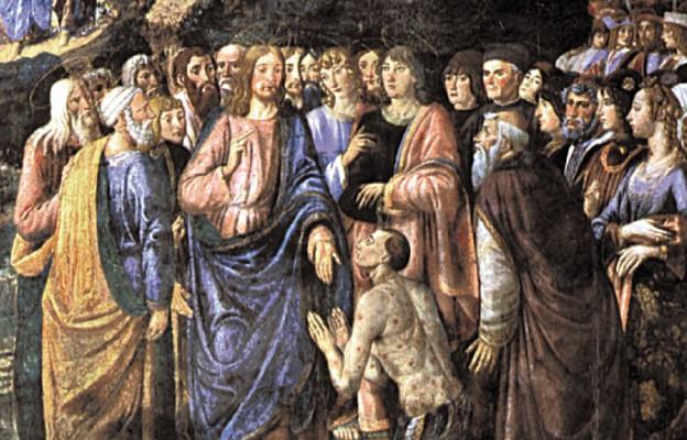 """Cosimo Rosselli i Piero di Cosimo, sceny z życia Chrystusa – """"Uzdrowienie trędowatego"""" (XV wiek)"""