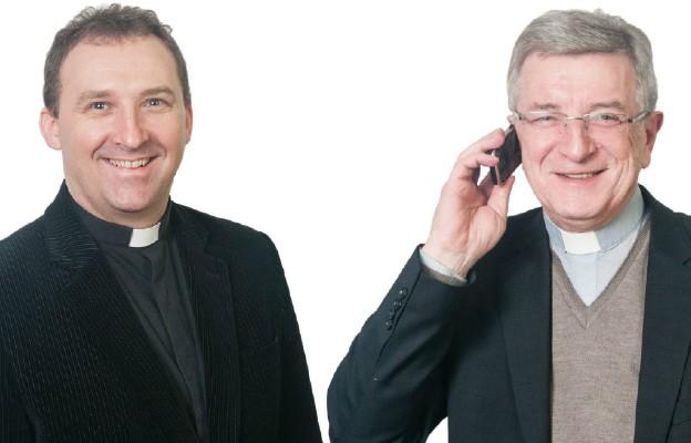 Od lewej: Ks. Dariusz Kowalczyk, Ks. Jan Drob