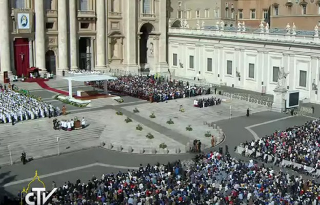 Jubileusz Maryjny w Roku Miłosierdzia, plac św. Piotra, 9 października