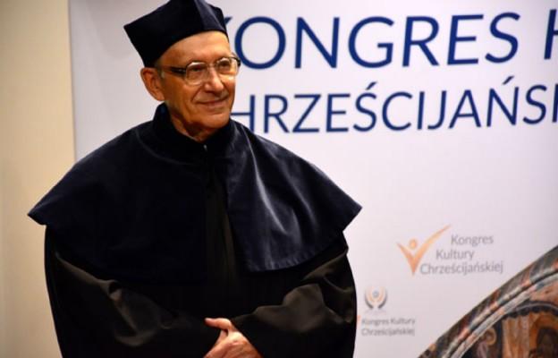 Ks. prof. Michał Heller – podczas uroczystości odnowienia doktoratu