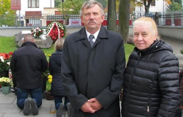 Brat ks. Jerzego - Józef Popiełuszko (z żoną Alfredą)