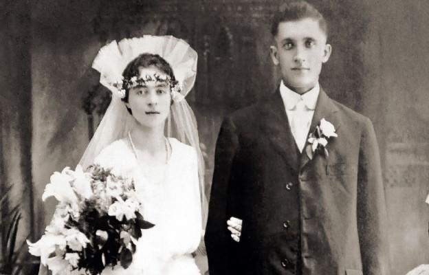 Zdjęcie ślubne Anieli i Jana Kwolków – rodziców Stefanii Kwolek