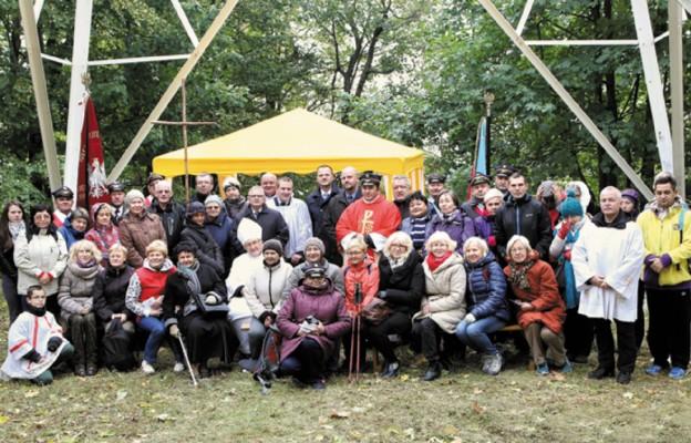 Kolejarze pielgrzymowali na górę Chełmiec