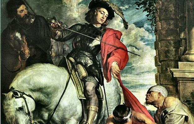 Św. Marcin z Tour (316-397) (mal. Antoon van Dijck