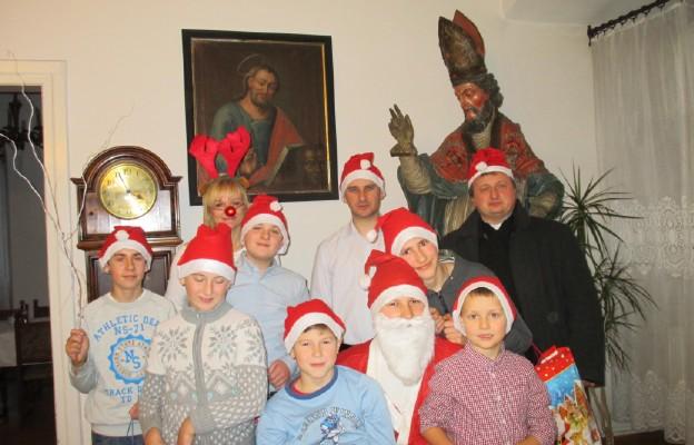 Św. Mikołaj na plebanii