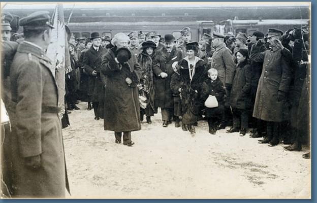 Powitanie Ignacego Paderewskiego
