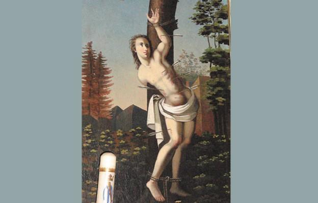 Obraz św. Sebastiana z sanktuarium Matki Bożej Królowej Rodzin w Ropczycach