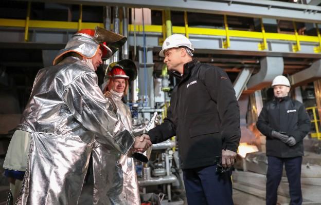Otwarcie nowej linii produkcyjnej w Hucie Miedzi Głogów