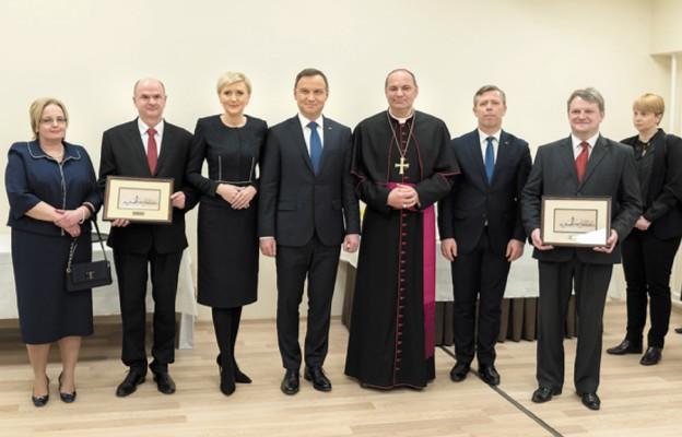 Podczas ceremonii wręczenia tytułu Honorowego Obywatela Wolbromia