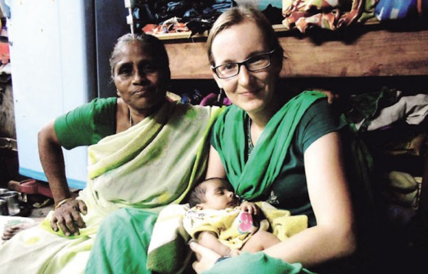 Dominika Pruszyńska na misji w Indiach