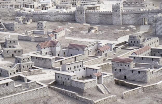 Makieta Jerozolimy z czasów Jezusa - w centrum skała Golgoty
