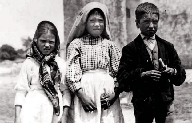 Dzieci fatimskie, którym objawiła się Matka Boża – Hiacynta, Łucja i Franciszek