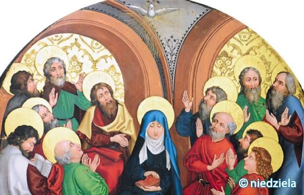 """Martin Schongauer, """"Zesłanie Ducha Świętego"""" (XV wiek)/Fot. Graziako"""