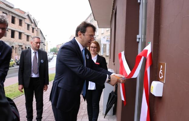 Otwarcie i poświęcenie Urzędu Pocztowego mieszczącego się przy ul. Kordeckiego 2