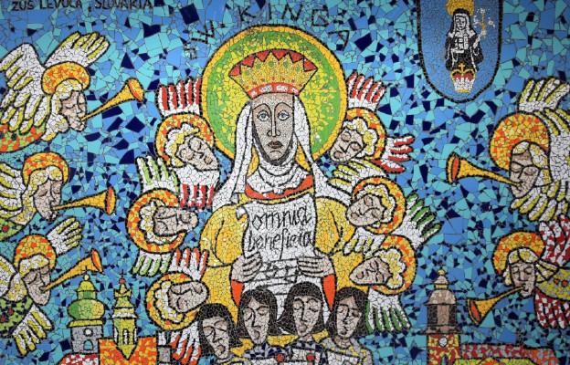 Mozaika z wizerunkiem św. Kingi w Urzędzie Miejskim w Starym Sączu