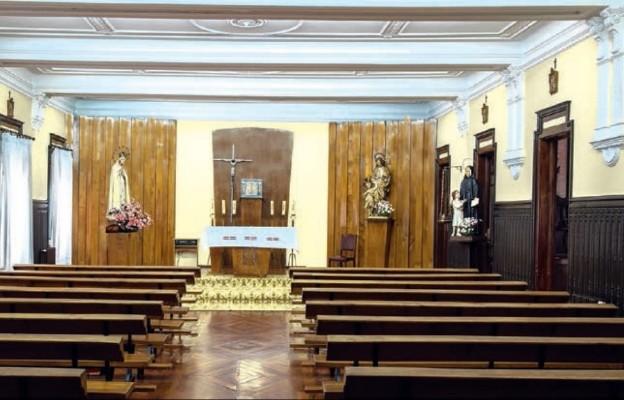 Kaplica klasztorna w Tuy w Hiszpanii, w której s. Łucja doświadczyła objawień