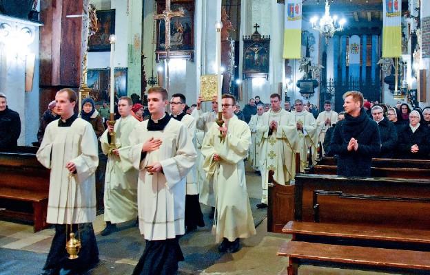 Podczas Mszy św. na zakończenie starego roku
