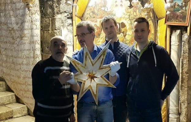 Bursztynowa Gwiazda z Polski w Betlejem