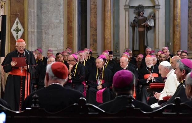 Spotkanie  z chilijskimi biskupami podczas wizyty Franciszka w tym kraju