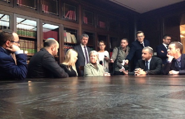 Spotkanie izraelskich dziennikarzy z Janiną Iwańską