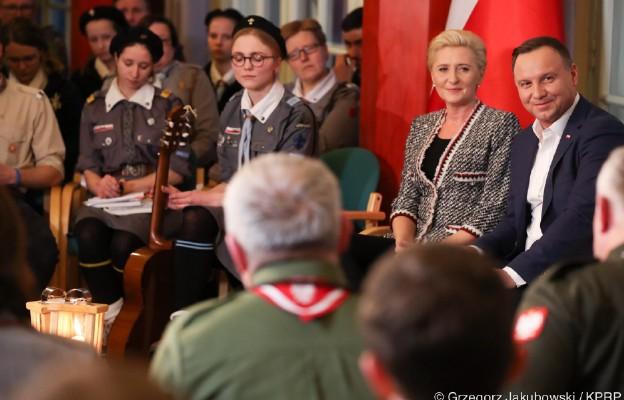 Spotkanie Pary Prezydenckiej z harcerzami z okazji Dnia Myśli Braterskiej
