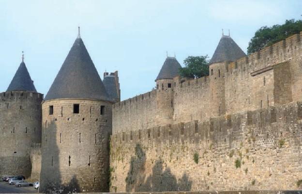 System fortyfikacji w Carcassonne robi wrażenie
