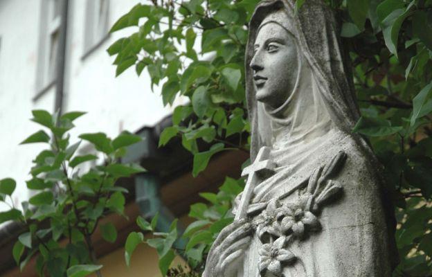 Bł. Salomea - figura z ogrodu sióstr klarysek