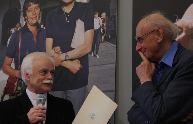 Otwarcie wystawy Zdzisława Sowińskiego z okazji 80. rocznicy urodzin Wojciech Kilara w Muzeum Częstochowskim w 2012 r.