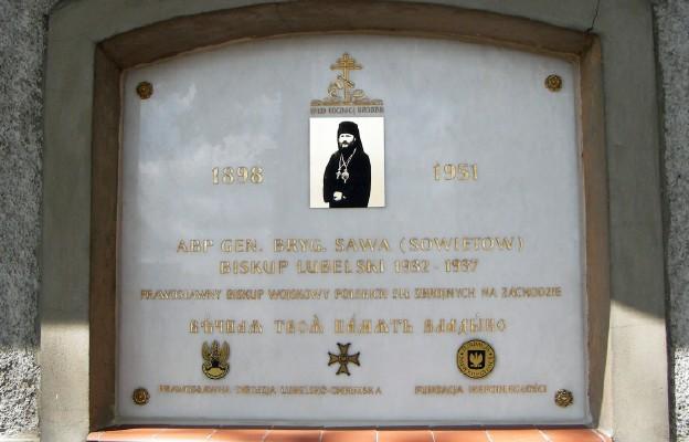 Tablica pamiątkowa prawosławnego abp. gen. Sawy Sowietowa