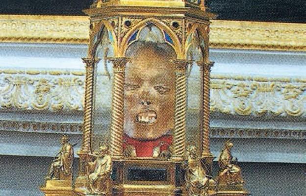 Watykan. Kościół św. Anny. Relikwiarz z głową św. Wawrzyńca
