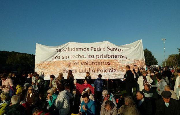 Lubelscy bezdomni i więźniowie u papieża Franciszka