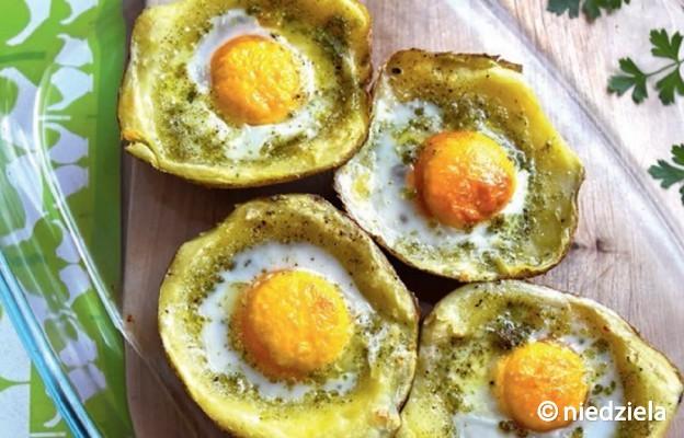 Ziemniaki nadziewane jajami