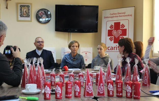 Z przedstawicielami lubuskich mediów spotkali się ks. Stanisław Podfigórny i Anna Maria Fedurek