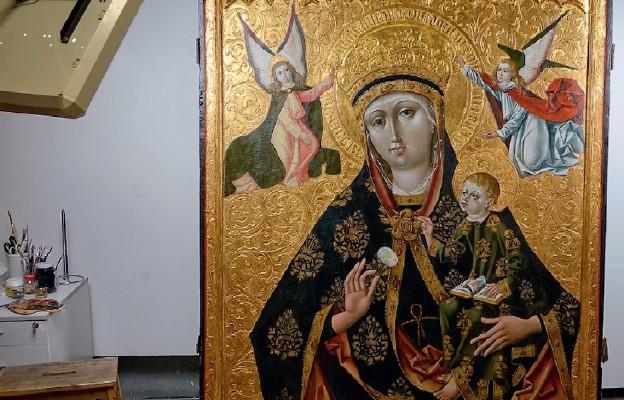 Odrestaurowana kończycka Madonna
