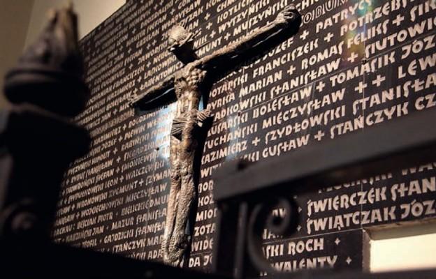 Tablica poświęcona łódzkim księżom, którzy zginęli w Dachau