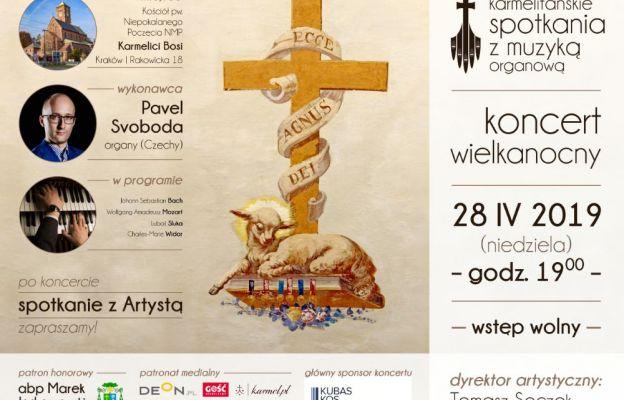 Kraków: wielkanocny koncert organowy w Niedzielę Miłosierdzia Bożego