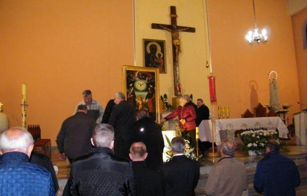 Obraz św. Józefa w kościele w Trzebielu