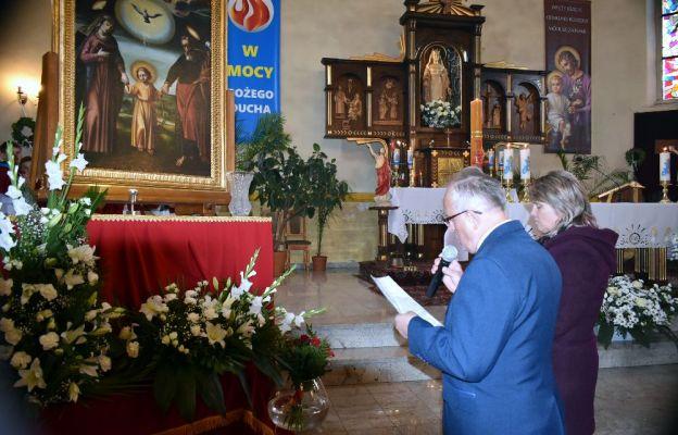 Powitanie obrazu św. Józefa w kościele w Jasieniu