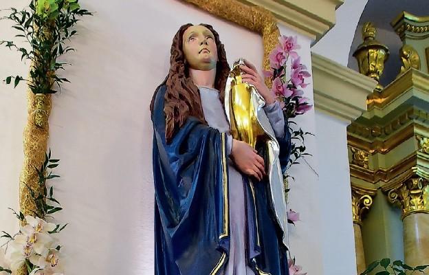 Relikwie i figura św. Marii Magdaleny w biłgorajskim sanktuarium