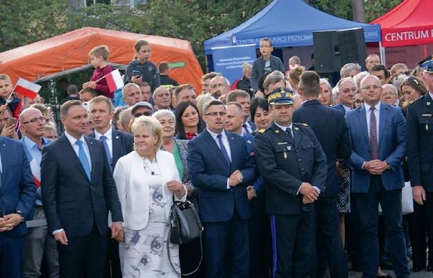 Prezydent RP Andrzej Duda podczas wizyty w Sosnowcu