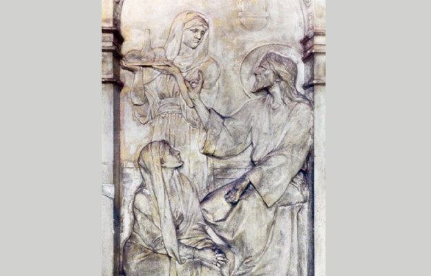 Marta i Maria przyjmują Chrystusa