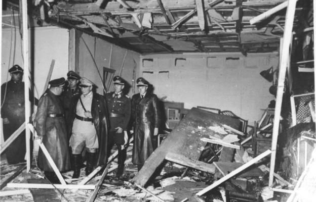 Sala konferencyjna zniszczona na skutek wybuchu, 20 lipca 1944 r.