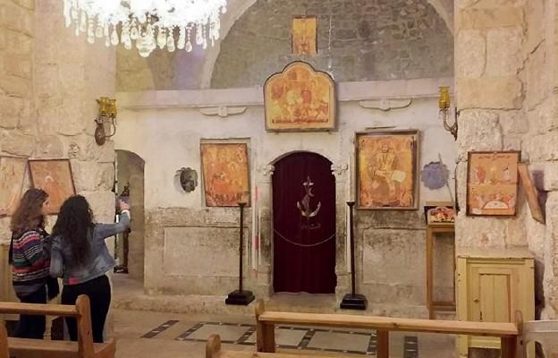 Wnętrze kościoła Świętych Sergiusza i Bakchusa