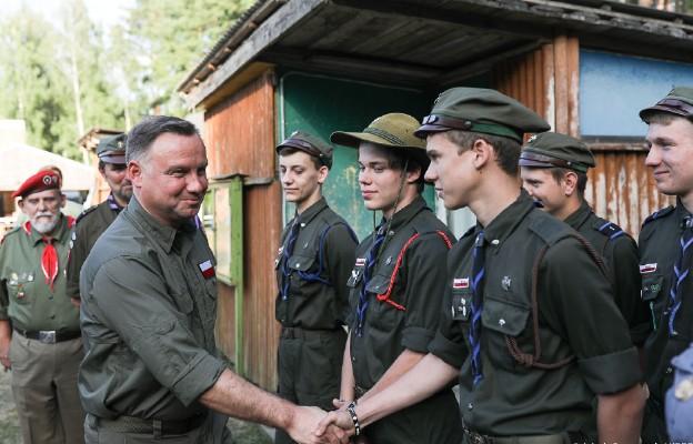 Na obozie w Opartowie przebywa około stu harcerzy z Podlasia i Mazur