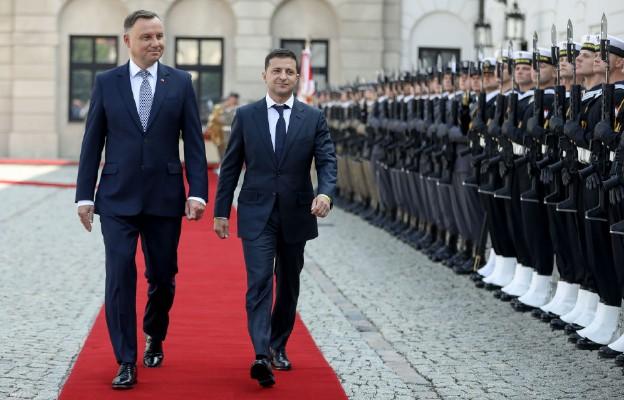 Ceremonia oficjalnego powitania Prezydenta Ukrainy przez Prezydenta RP