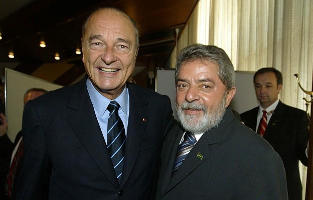 Jacques Chirac i prezydent Brazylii