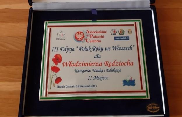 """Korespondent """"Niedzieli"""" wśród laureatów """"Polaka Roku"""" we Włoszech"""