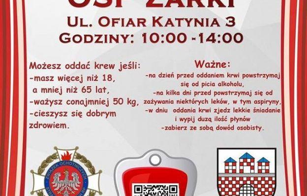 Oddaj krew w Żarkach